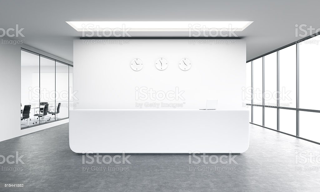 Office reception stock photo