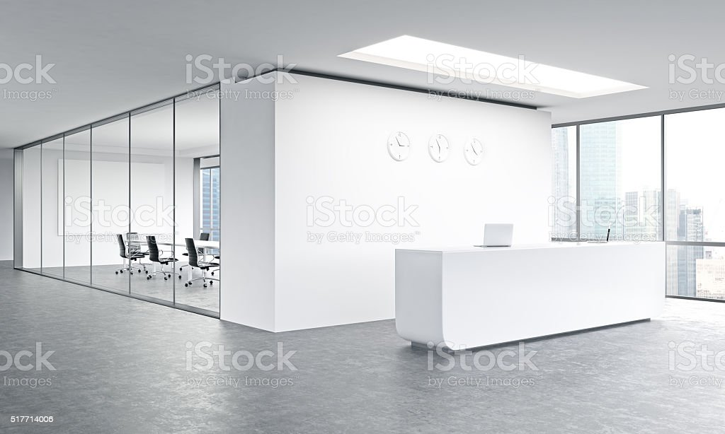 Office reception stock photo