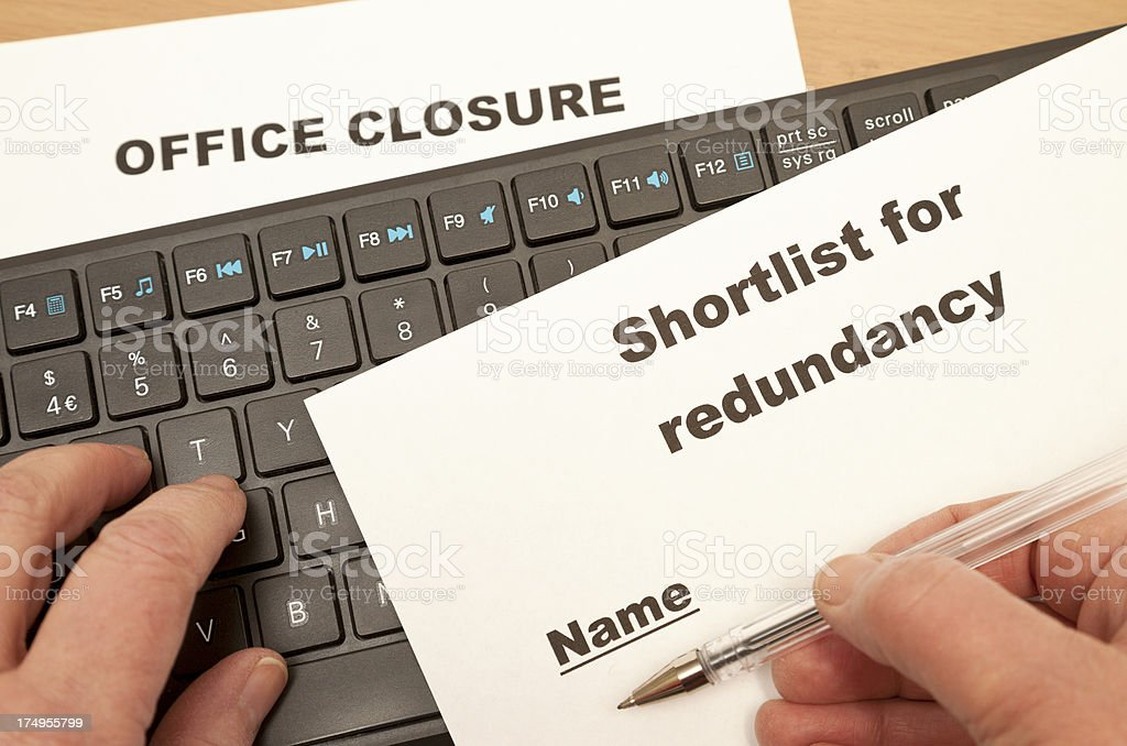 Office Redundancy stock photo