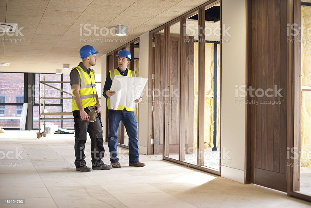 office refurbishment stock photo