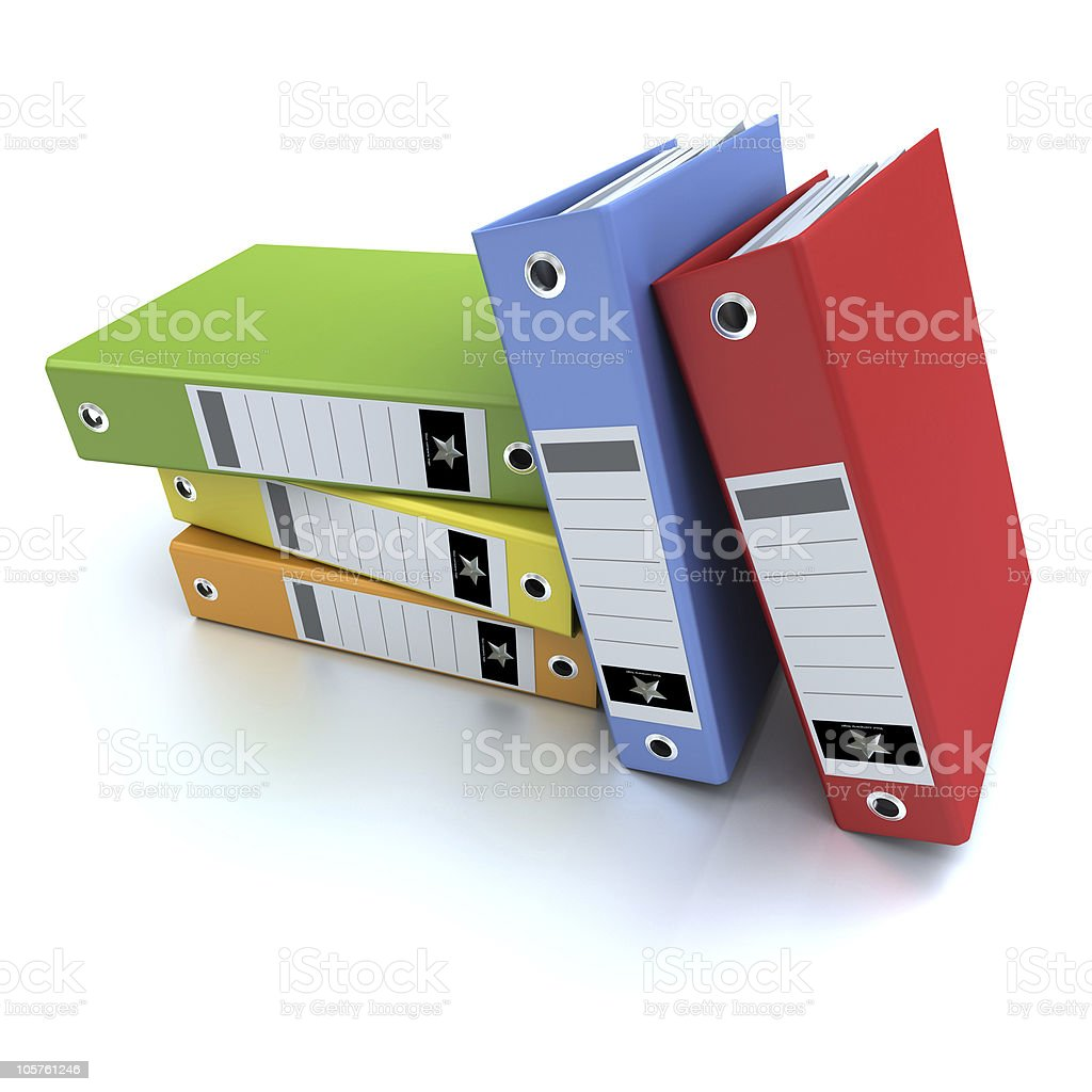 Office ring binders royalty-free stock photo