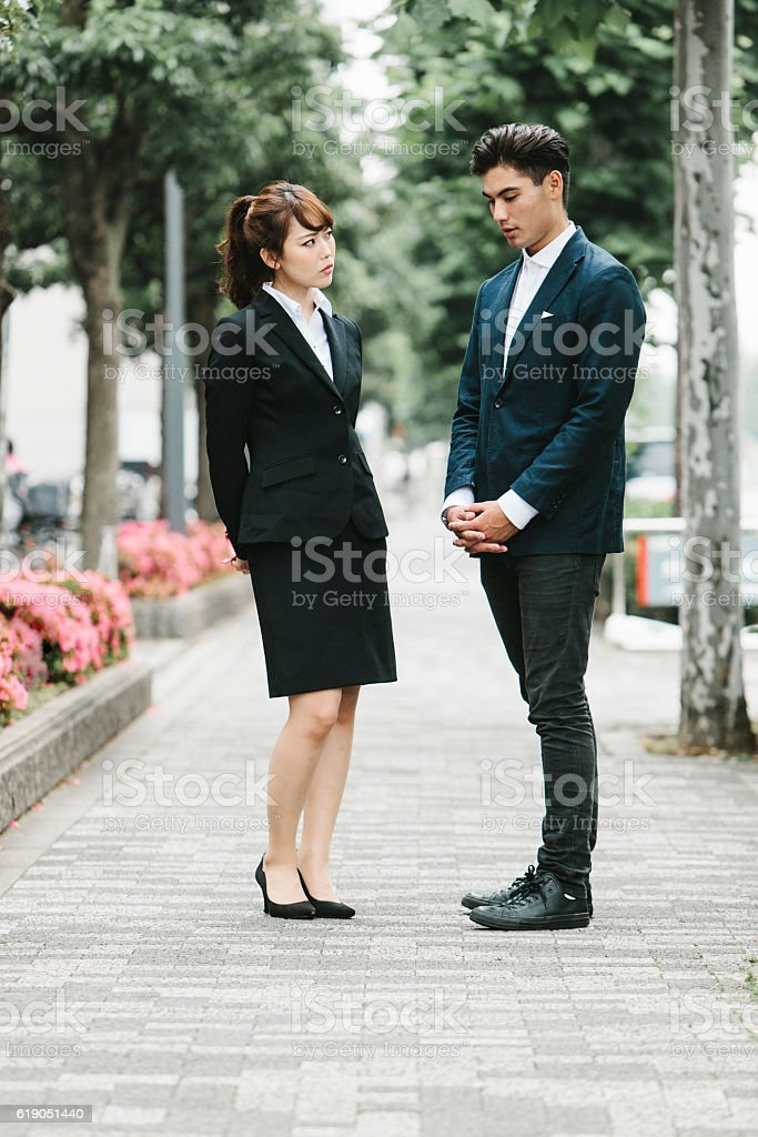 Office Romance between Entrepreneurs stock photo