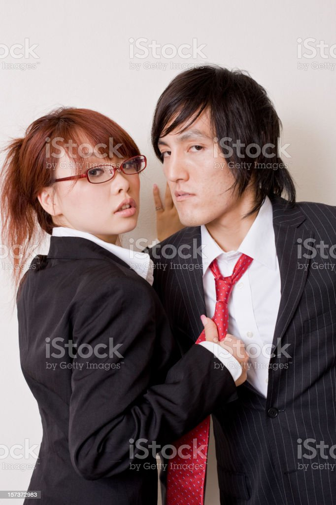Office romance royalty-free stock photo