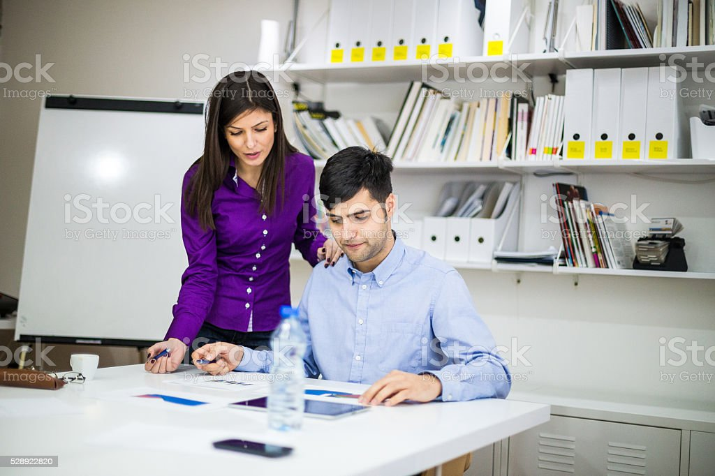 Office romance stock photo