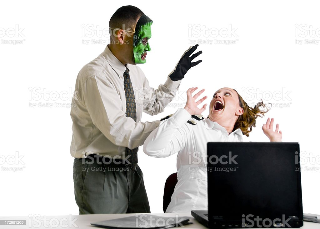 Office Scare royalty-free stock photo