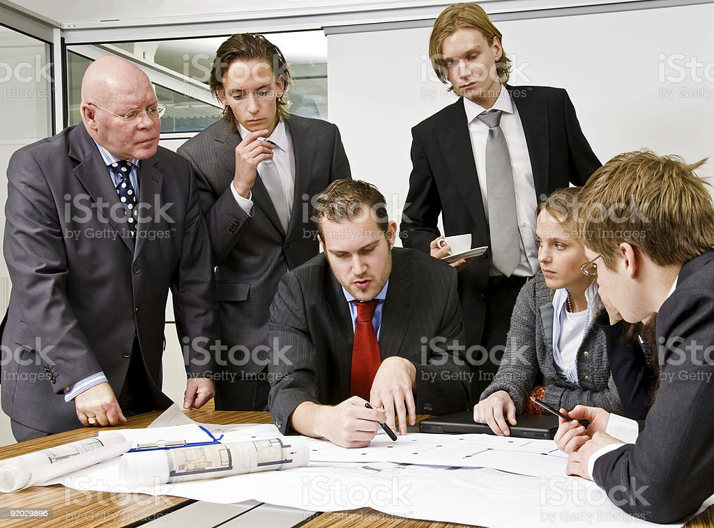 Office Scene stock photo