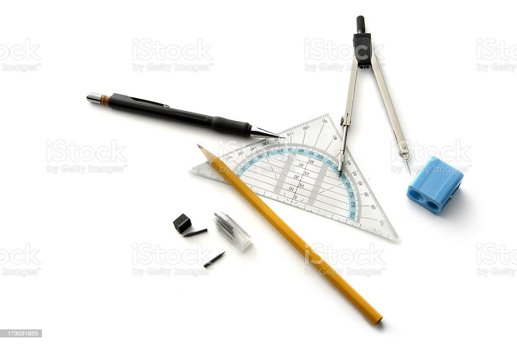 Office: School Supplies royalty-free stock photo