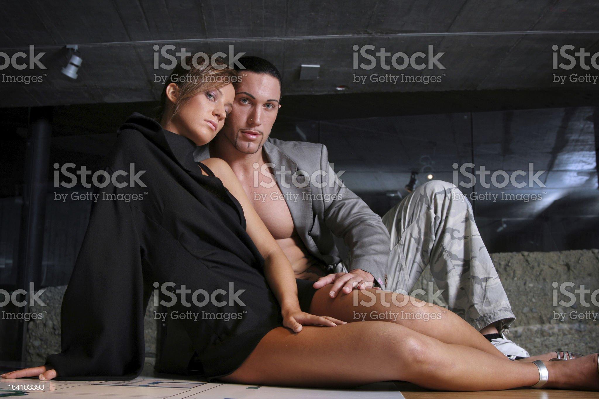 Office seduction royalty-free stock photo