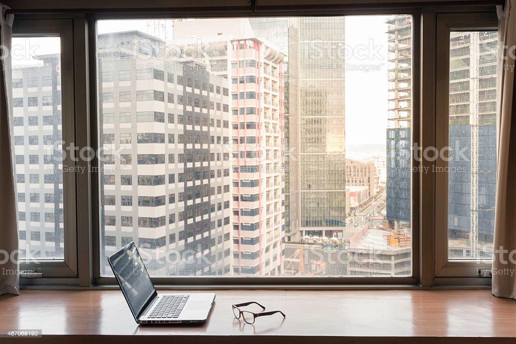 Office setting stock photo