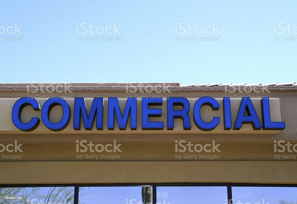 Office Signage - 'Commercial' royalty-free stock photo