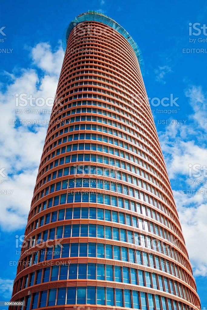 office skyscraper under construction in Seville, Spain stock photo