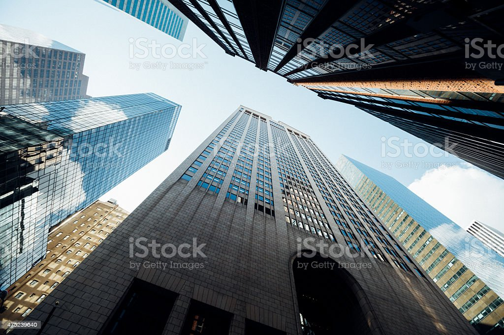 Office skysraper in New York City stock photo