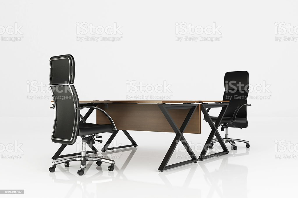 Office Station - Clipping path royalty-free stock photo