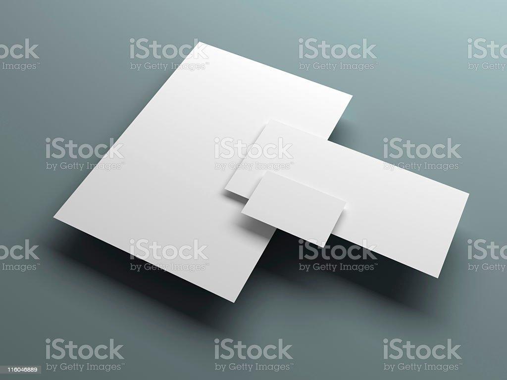 office stationery set stock photo
