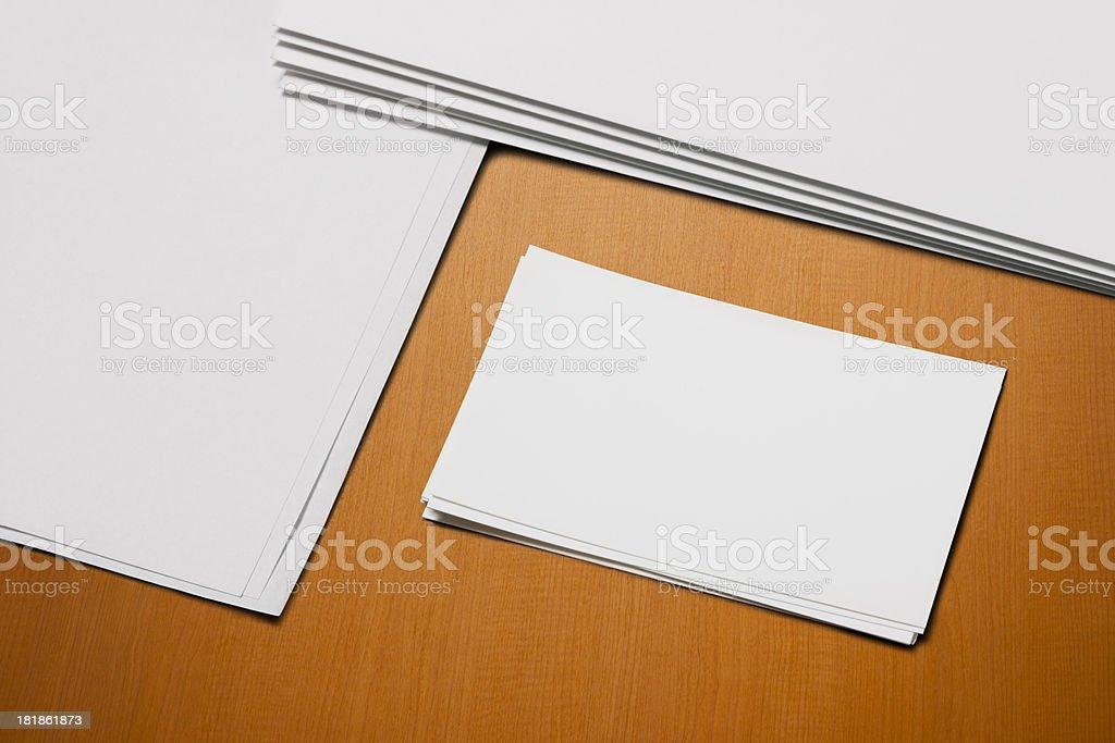 Office stationery set royalty-free stock photo