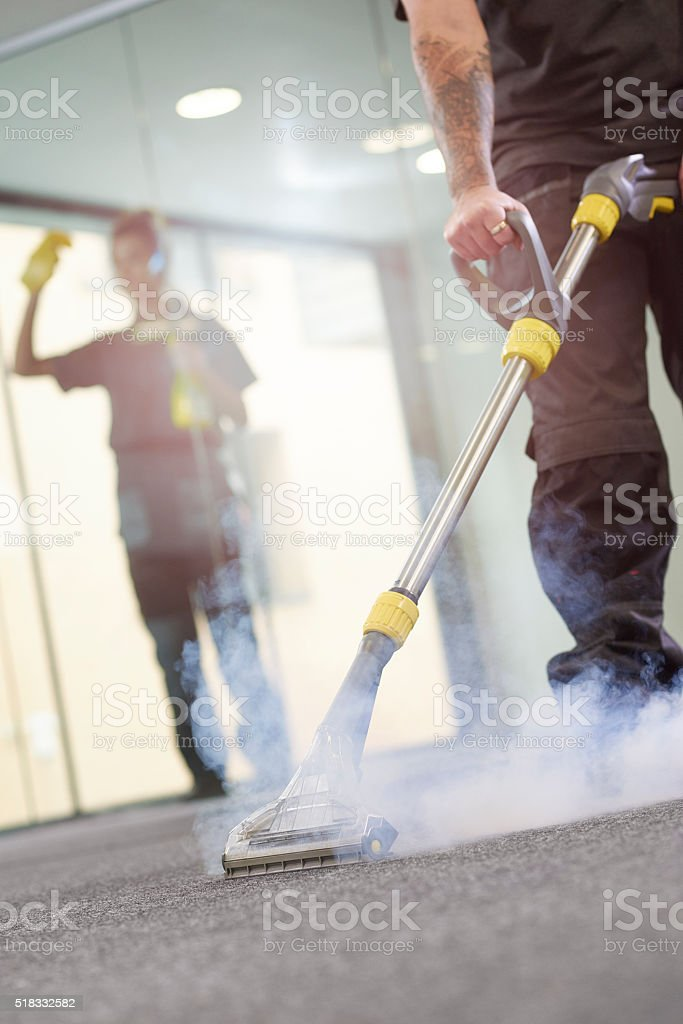 office steam cleaning contractors stock photo