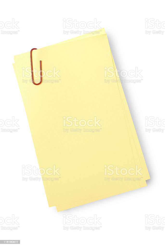 Office sticky notes or yellow notepaper royalty-free stock photo