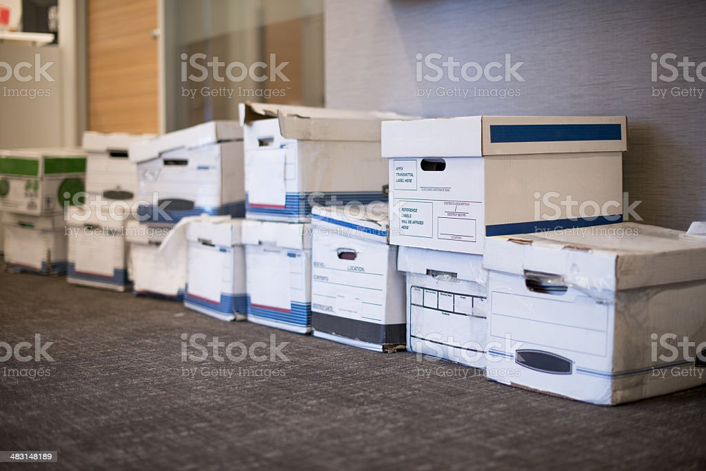 Office Storage Boxes stock photo
