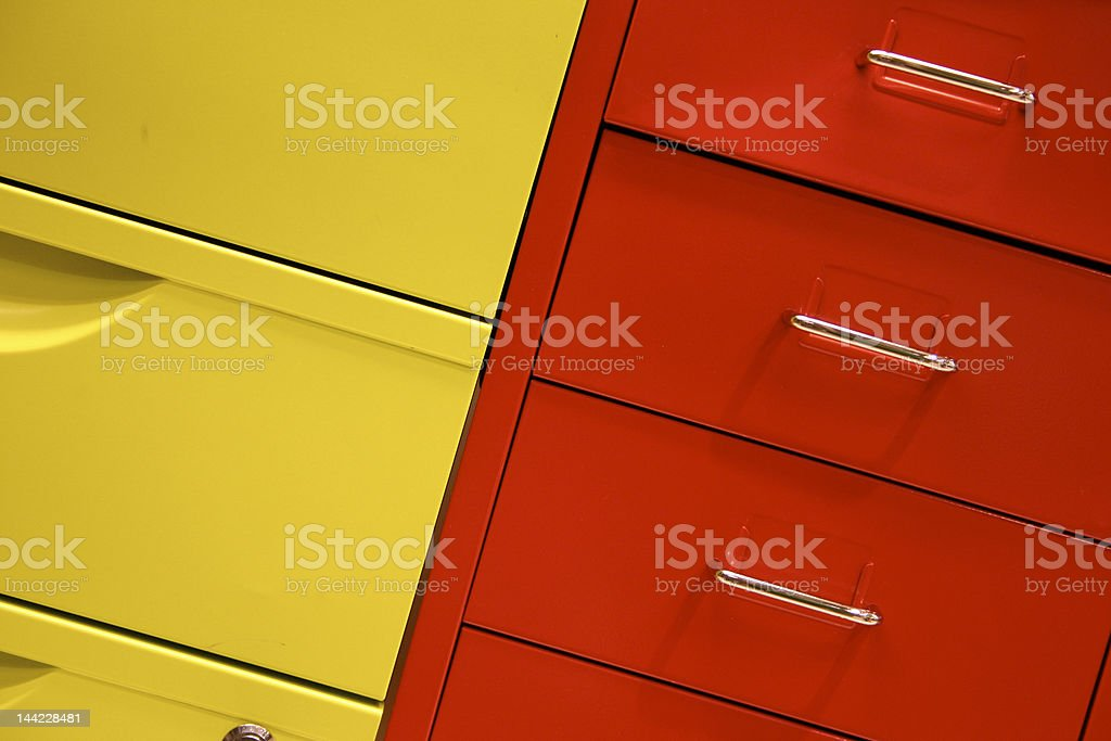 Office storage filing cabinet drawer royalty-free stock photo