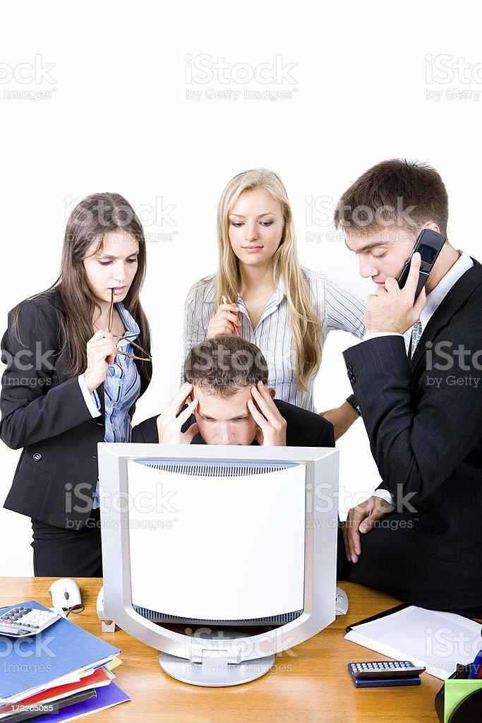 Office Stress royalty-free stock photo