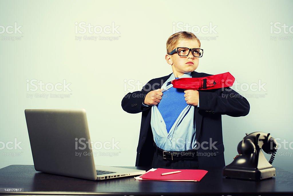 Office Superhero stock photo