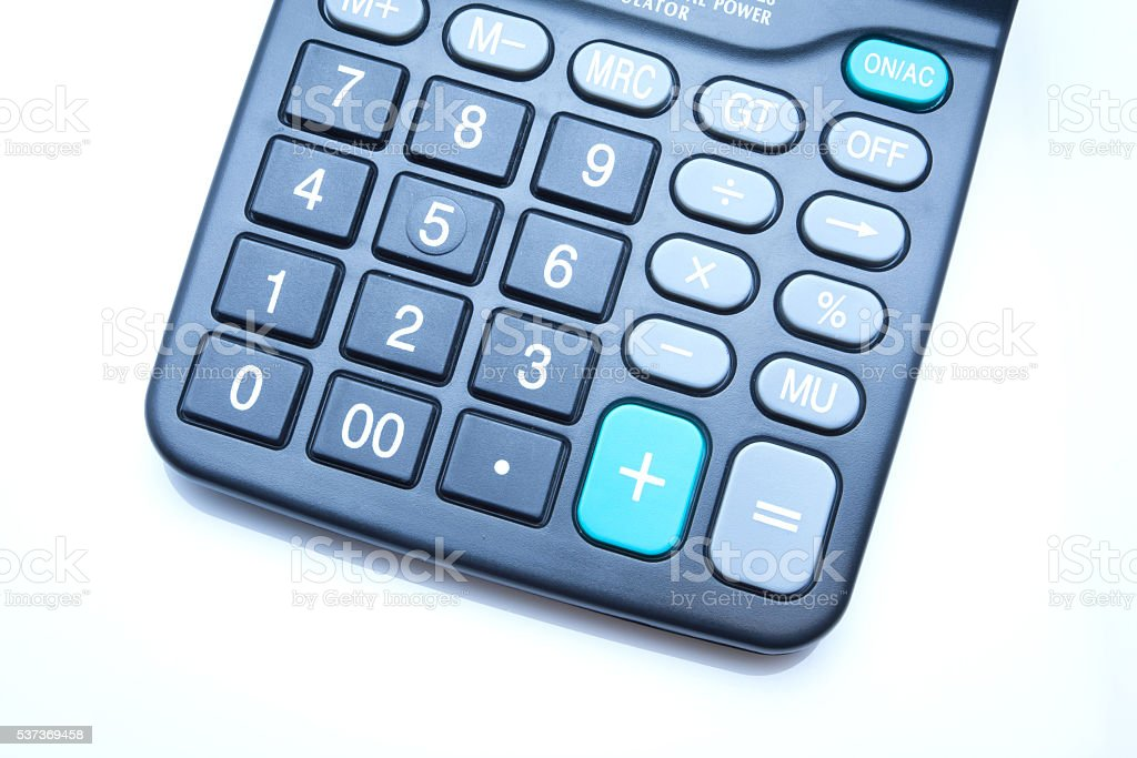 Office Supplies - Calculator stock photo