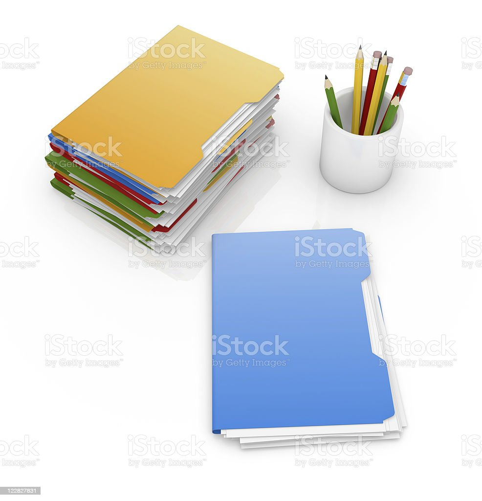 Office Supplies royalty-free stock vector art