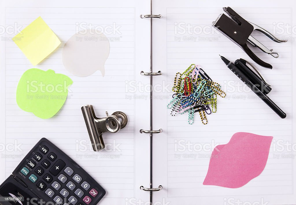 office supplies royalty-free stock photo