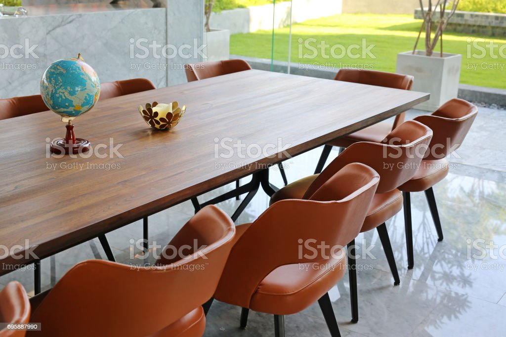 office table and chair. stock photo