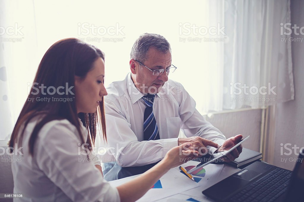 Office team working stock photo