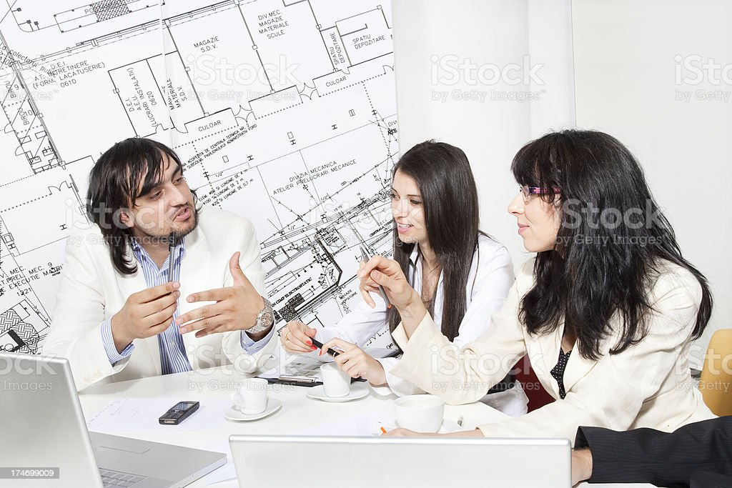 Office teamwork and business meeting royalty-free stock photo