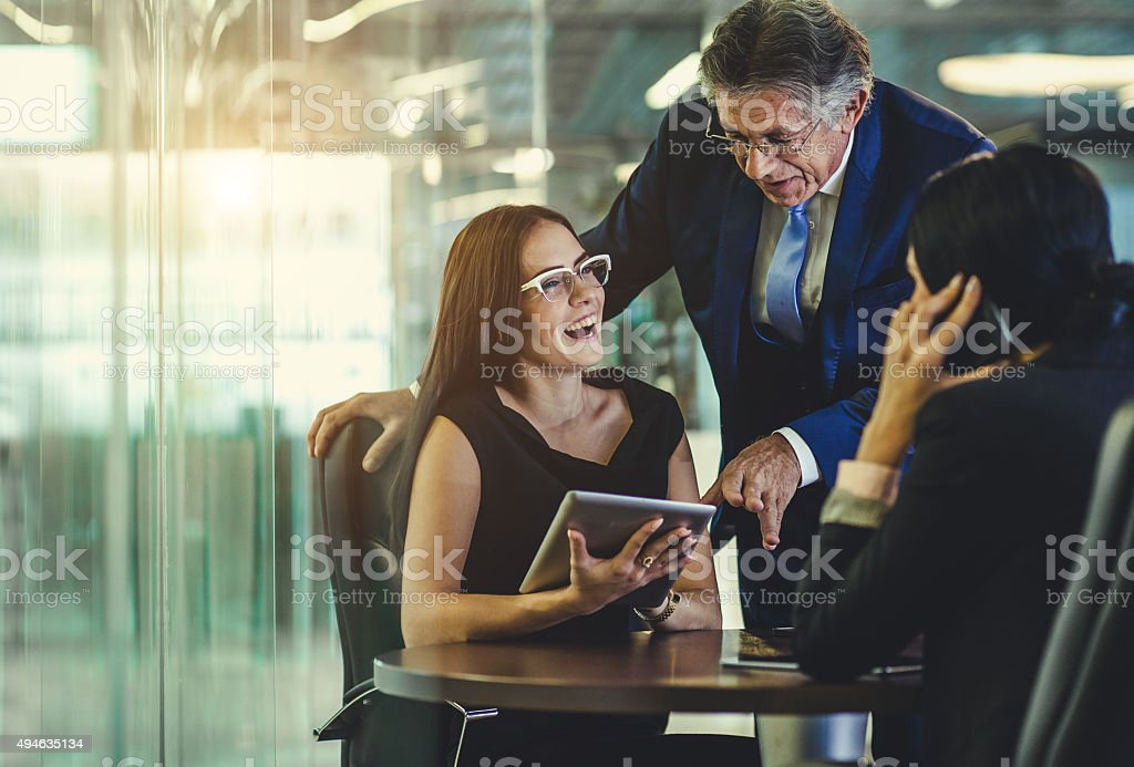 Office teamwork stock photo