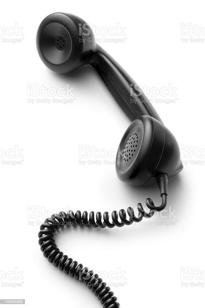 Office: Telephone Handset royalty-free stock photo