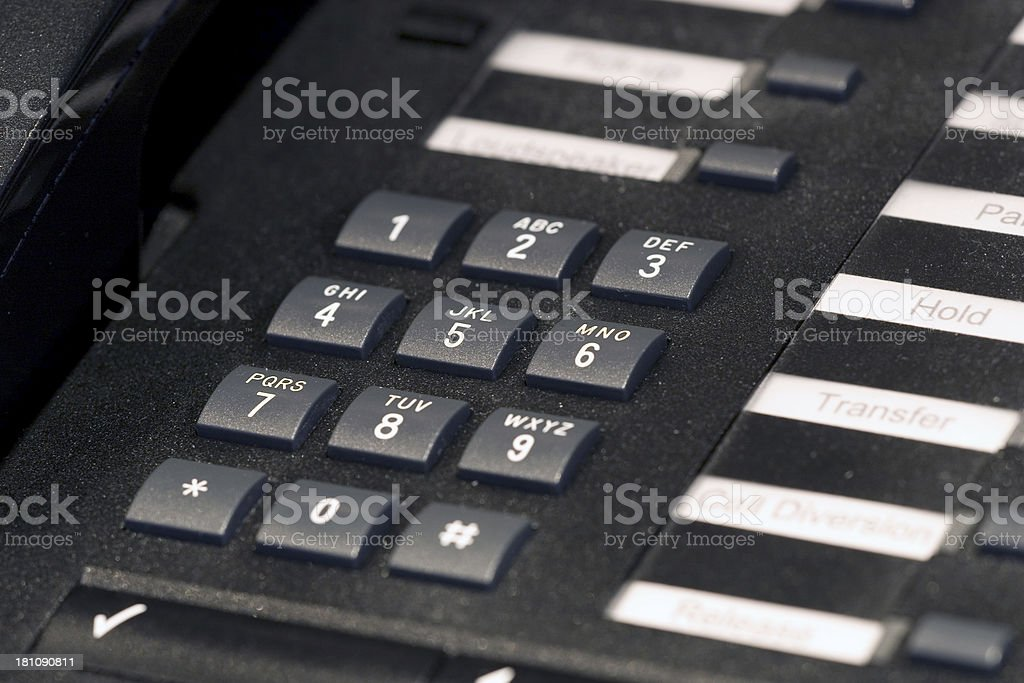 Office Telephone - Keypad royalty-free stock photo