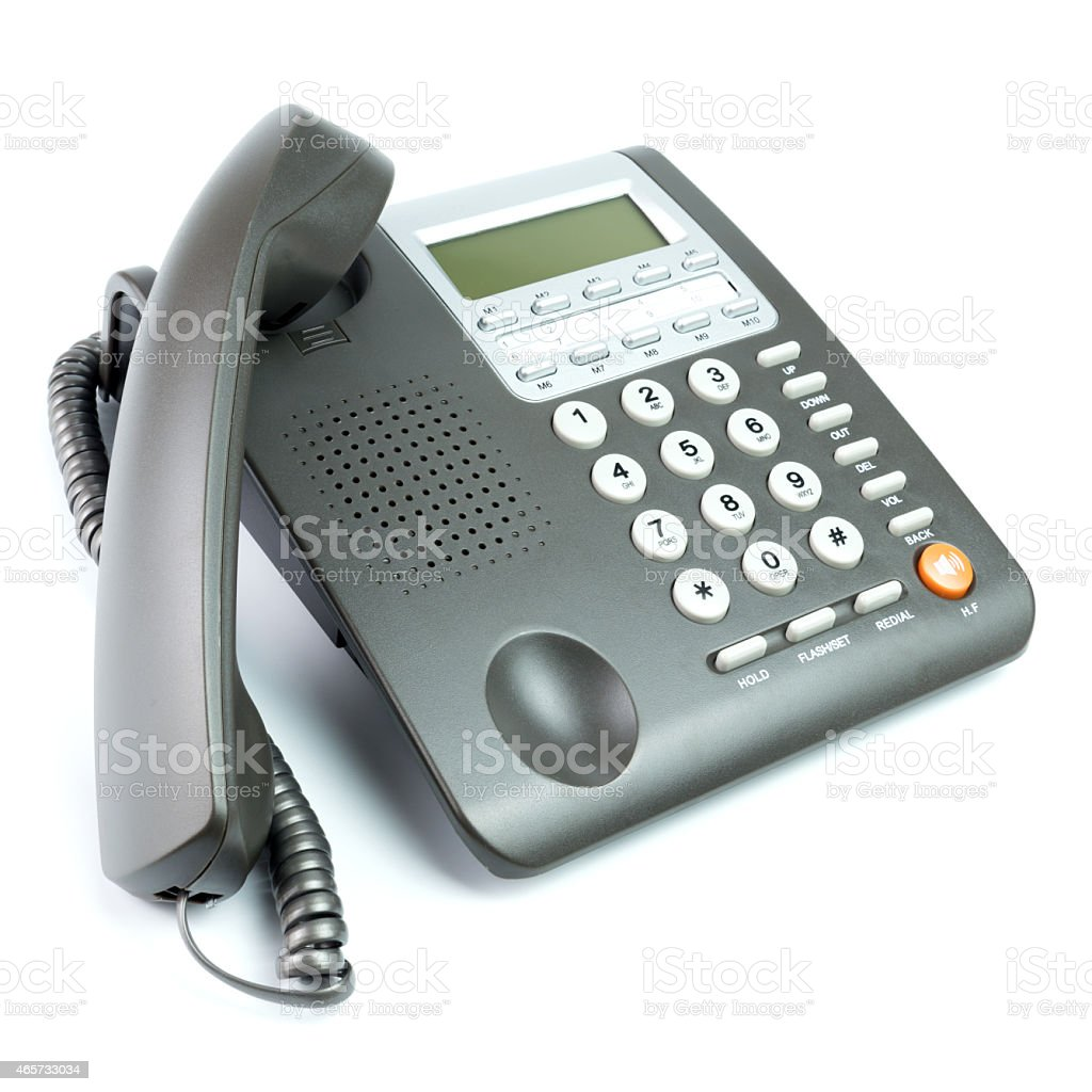 Office telephone stock photo