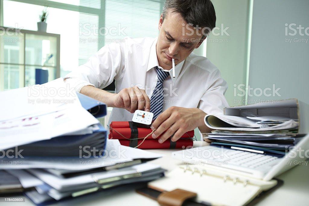 Office terrorist royalty-free stock photo