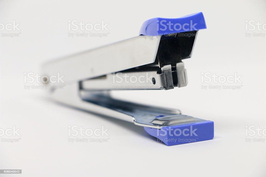 Office tool. Stapler on the white background. stock photo