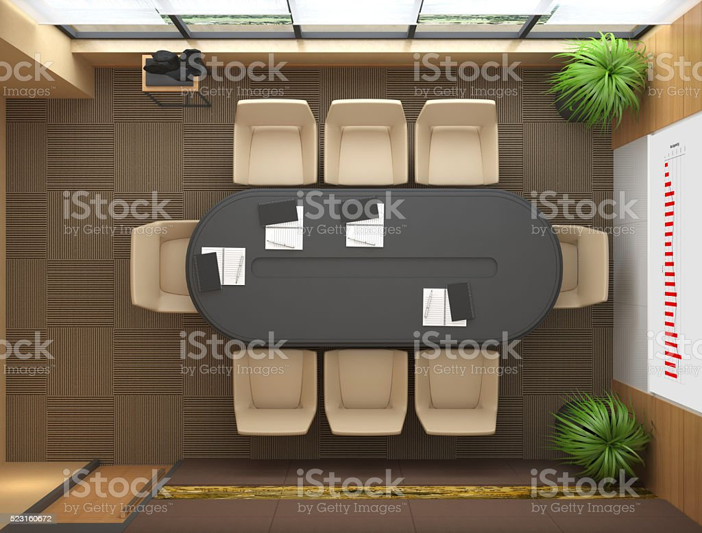 Office Top View stock photo
