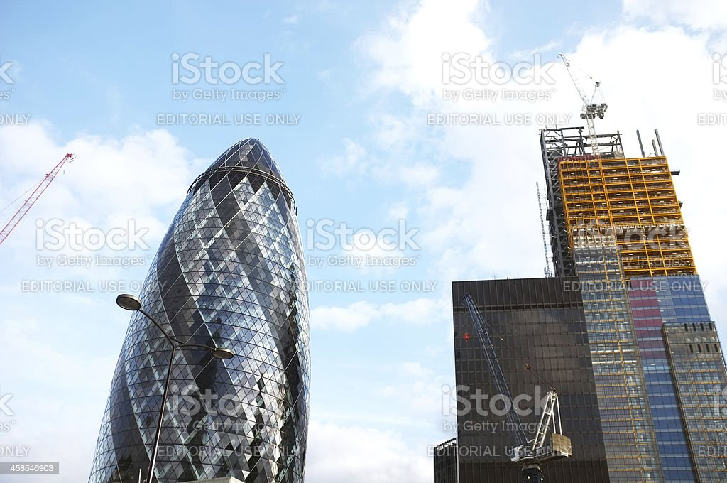 Office tower construction royalty-free stock photo