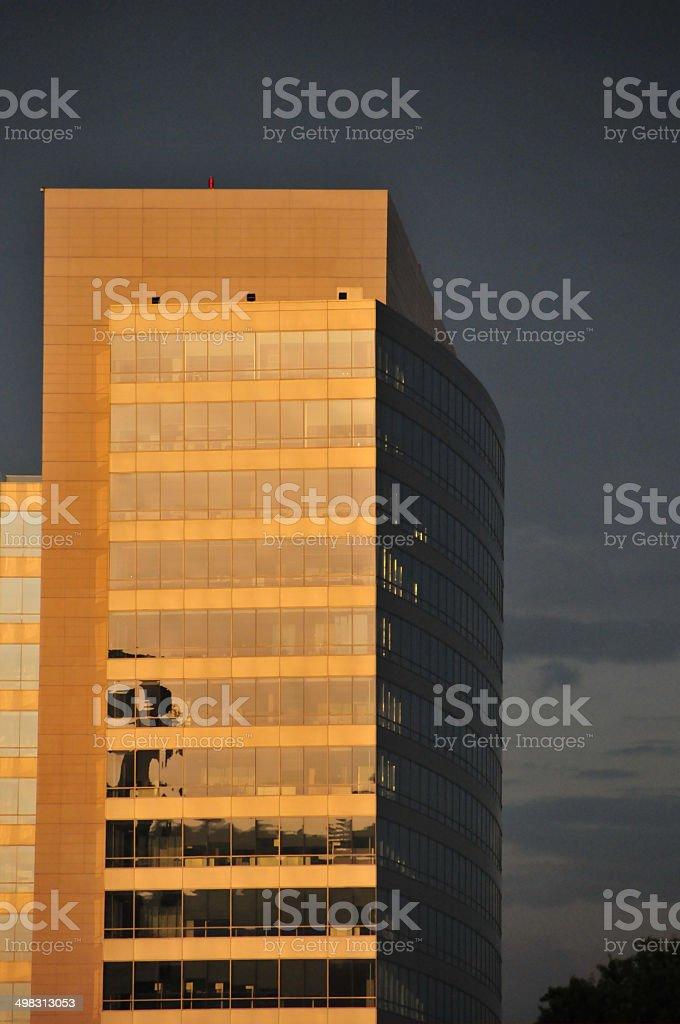 Office tower - Nascar Plaza, Charlotte, NC stock photo