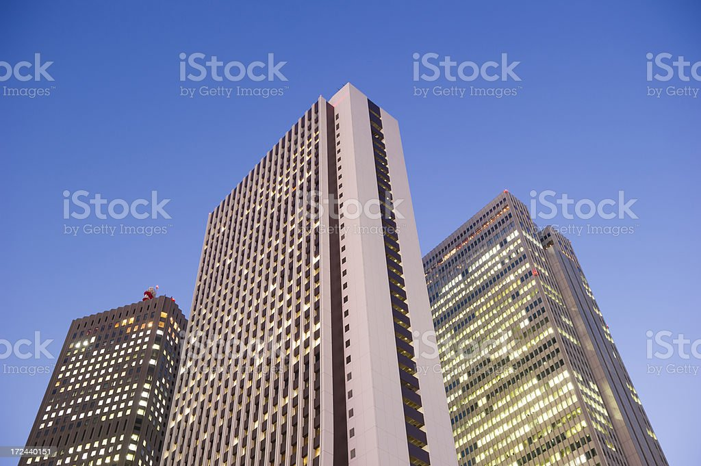 Office towers at dusk royalty-free stock photo