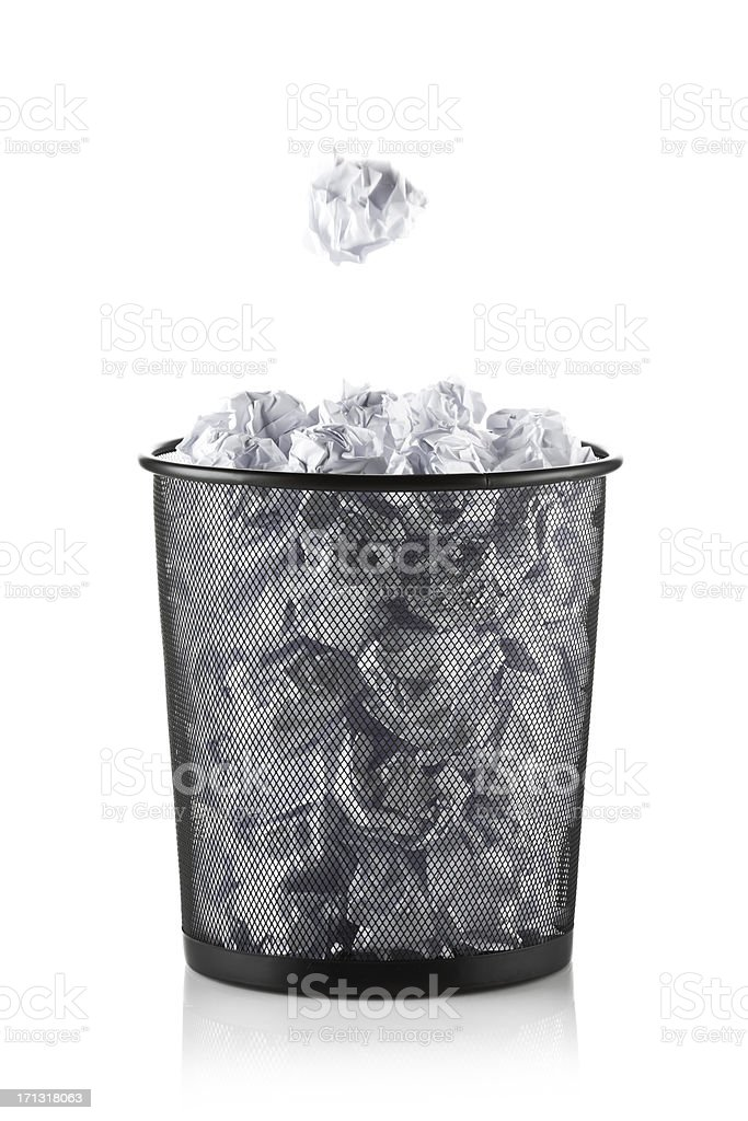 Office Trash Bin stock photo