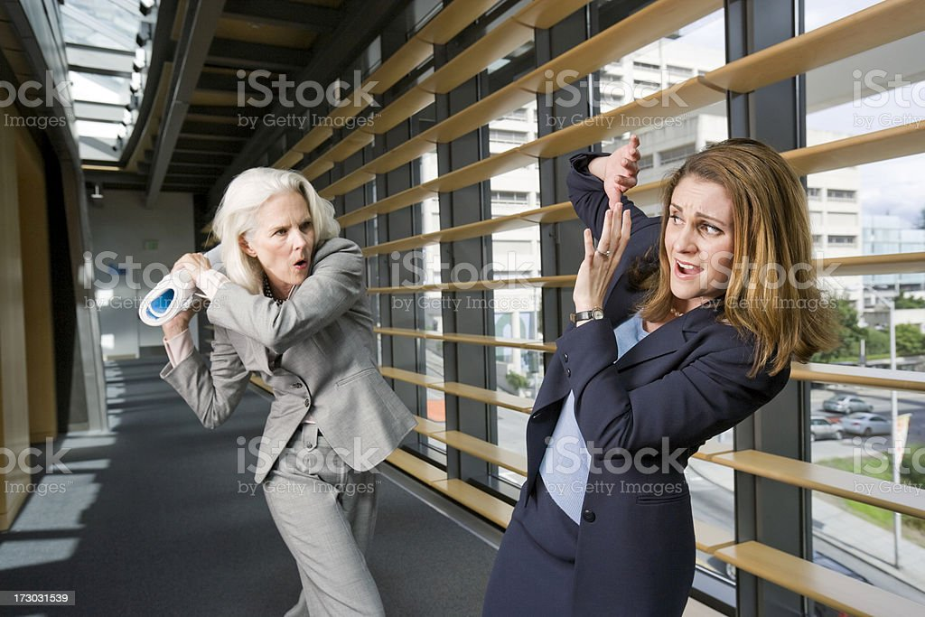 Office Violence royalty-free stock photo