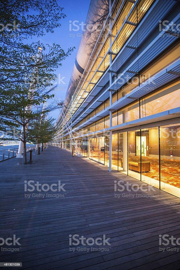 Office walkway stock photo