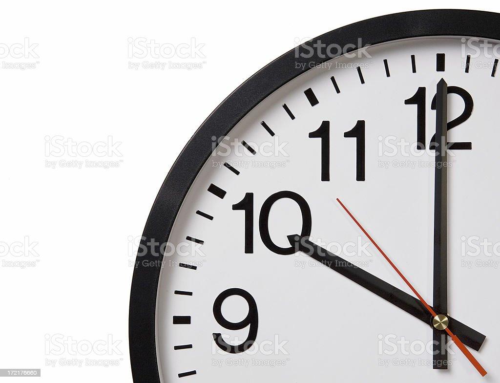 Office Wall Clock Close-up royalty-free stock photo