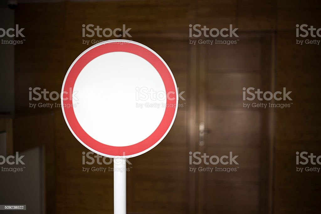 Office warning stock photo
