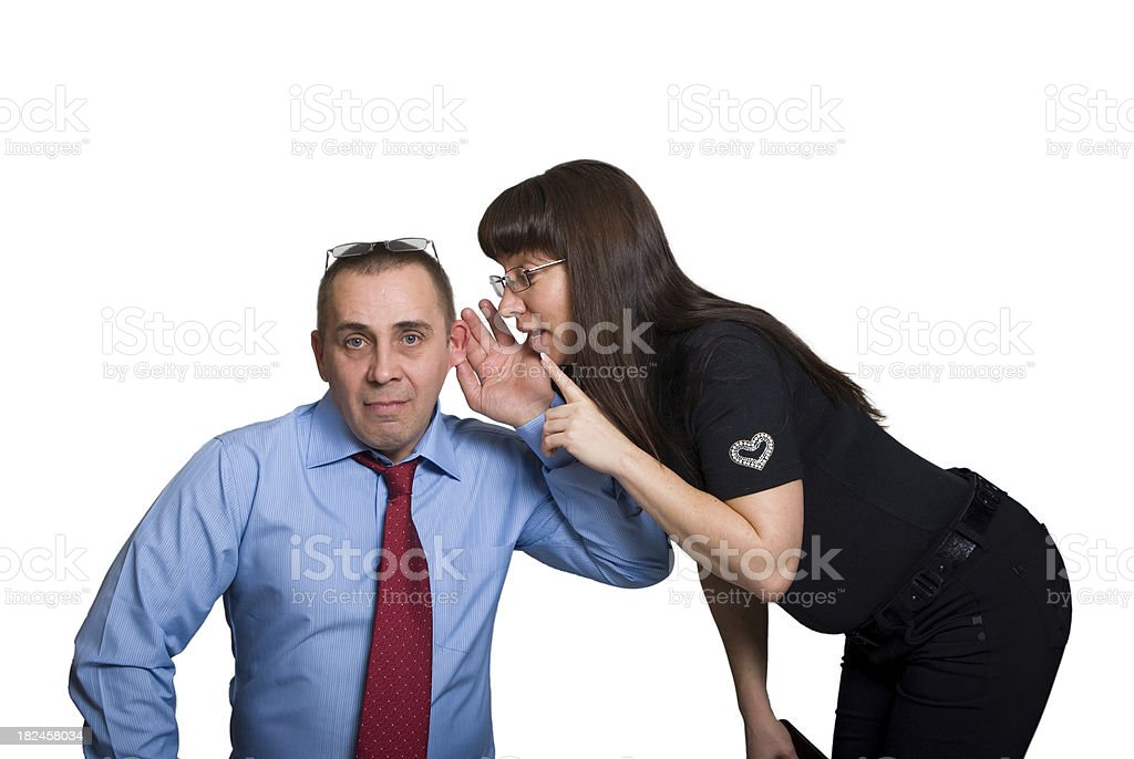 Office whistleblowing stock photo