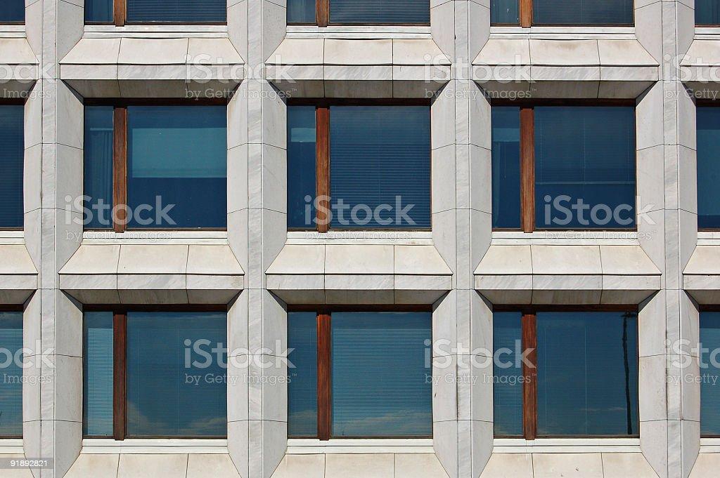 Office windows royalty-free stock photo