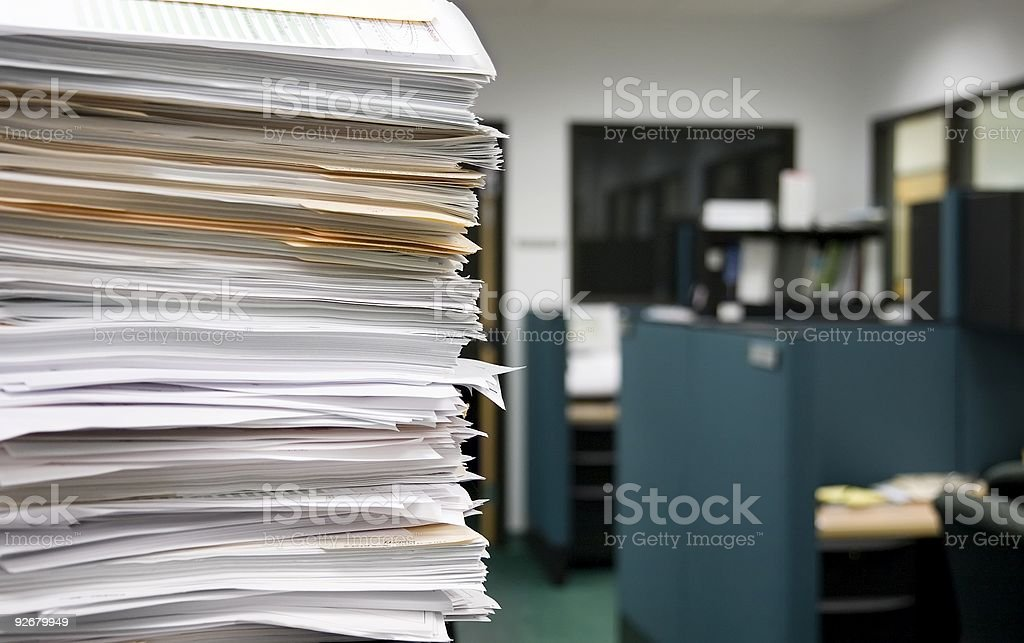 Office work - selective focus royalty-free stock photo