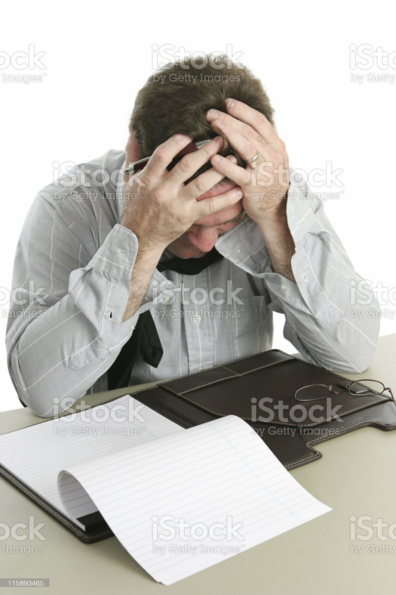 Office Worker - Frustration royalty-free stock photo